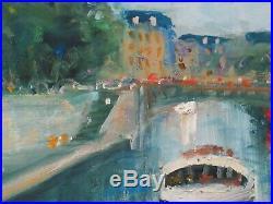 11X14 Original Oil Painting Askart Listed Artist Nino Pippa Paris Notre Dame COA