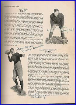 1930 Notre Dame Football Review National Champs Rockne Leahy Autographs withCOA