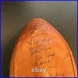 1954 Notre Dame Fighting Irish Team Signed Football With 57 Sigs Beckett COA