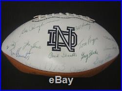 1973 Notre Dame National Champion Dave Casper Team Signed Football 90+ autos COA