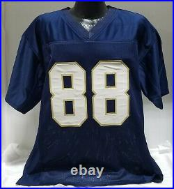 1988 Notre Dame 6 Player Autographed/signed Custom Jersey Insc Psa/dna Coa (xl)