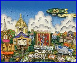 1988 Notre Dame team Signed Charles FAZZINO Framed Lou Holtz Steiner COA 88/88