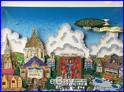 1988 Notre Dame team Signed Charles FAZZINO Framed Lou Holtz Steiner COA LE /88