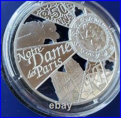 2013 10 Euro Silver Proof Coin Unesco Notre Dame de Paris with Box & COA