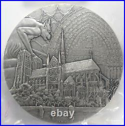 2013 Paris Notre Dame 850 Years Silvered Bronze Medal with Box & COA 100mm HUGE