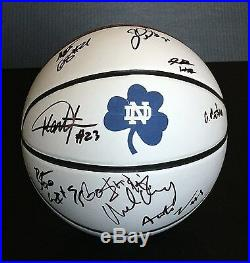 2015 NOTRE DAME IRISH Team Signed Autographed Basketball COA! BREY/GRANT+++