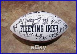 2017 Notre Dame Fighting Irish Team Signed Multi Autographed Logo Football Coa
