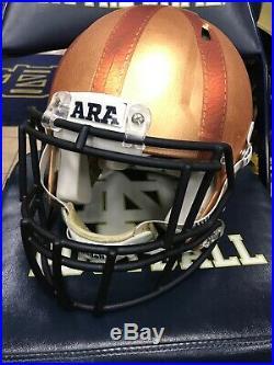 2017 Notre Dame Football Rockne Heritage Speed Team Issued Helmet With A Coa