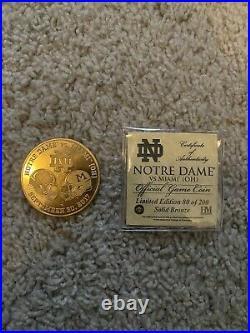 2017 Notre Dame Football Vs Miami Ohio Football Official Game Coin Ltd Ed Coa