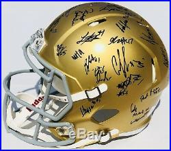 2018 NOTRE DAME FIGHTING IRISH TEAM Signed Autographed Football Helmet COA