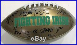 2018 Notre Dame Fighting Irish Team Signed Full Size Logo Football WithCOA