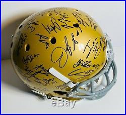 2019 Notre Dame Fighting Irish Team Signed Autograph Fs Football Helmet Coa 45+