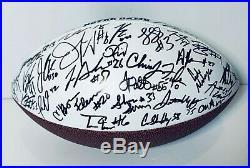 2019 Notre Dame Fighting Irish Team Signed Autograph Logo Football Coa 45+ Sigs