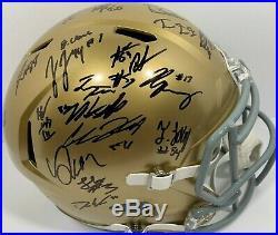 2019 Notre Dame Team Signed Full Size Football Helmet Ian Book Claypool + Coa