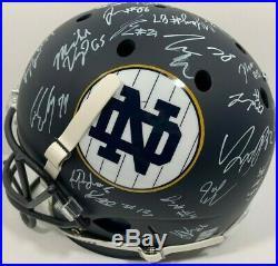 2019 Notre Dame Team Signed Full Size Football Helmet Ian Book Claypool ++ Coa