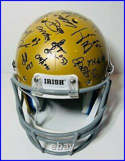 2020 Notre Dame Fighting Irish Team Signed Autograph Fs Football Helmet Coa Book