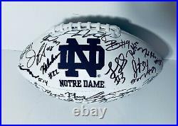 2020 Notre Dame Fighting Irish Team Signed Autograph Logo Football Coa Ian Book