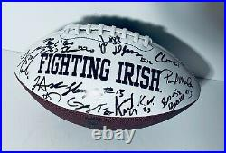 2020 Notre Dame Fighting Irish Team Signed Autograph Logo Football Coa Ian Book