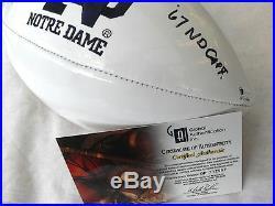 4 x SB CHAMP ROCKY BLEIER SIGNED GAI WITNESSED COA GP212967 NOTRE DAME FOOTBALL