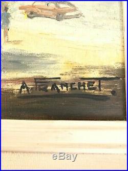 A. Franchet NOTRE DAME de PARIS No 605 O/C Painting Signed Rare COA Montebello