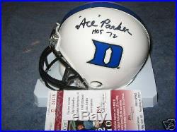 Ace Parker Duke, Hof, Yankees Jsa/coa Signed Mini Helmet