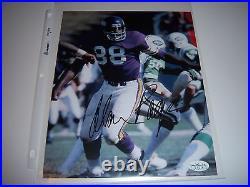 Alan Page Minnesota Vikings, Notre Dame, Hof Jsa/coa/stamp Signed 8x10 Photo
