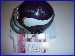 Alan Page Minnesota Vikings, Notre Dame Jsa/coa Signed Mini Helmet