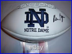 Alan Page Notre Dame, Hof Jsa/coa Signed Football