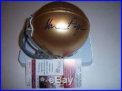 Alan Page Notre Dame, Vikings Jsa/coa Signed Mini Helmet