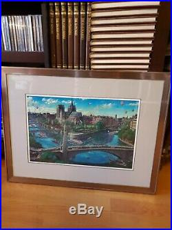 Alexander Chen Notre Dame Limited Edition Seriolithograph Hand Signed Framed