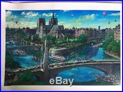 Alexander Chen Notre Dame Limited Edition Seriolithograph Hand Signed Unframed