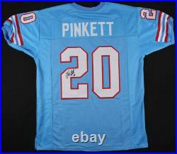 Allen Pinkett Signed Houston Oilers Jersey (JSA COA) Ex Notre Dame Running Back