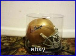 Ara Parseghian Autographed Notre Dame Schutt Authentic Mini Helmet COA /