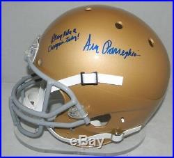 Ara Parseghian Autographed Signed Notre Dame Irish Full Size F/s Helmet Coa