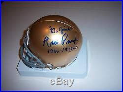 Ara Parseghian Notre Dame1966-1973 National Champs Jsa/coa Signed Mini Helmet