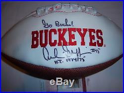 Archie Griffin Ohio Statebuckeyes Heisman Jsa/coa Signed Football