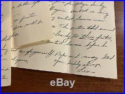 Authentic 1951 Letter By Leon Hart Notre Dame Heisman 1949 Detroit Lions COA