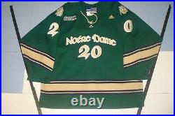 Authentic Notre Dame Game Used Worn Hockey Jersey Lucyk Meigray Coa