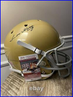 Autographed Full Size Notre Dame Helmet Signed By Lou Holtz With JSA COA