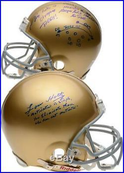 Autographed Lou Holtz Notre Dame Helmet Fanatics Authentic COA Item#9801190