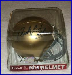 Autographed Rudy Ruettiger Notre Dame mini helmet (withCOA)