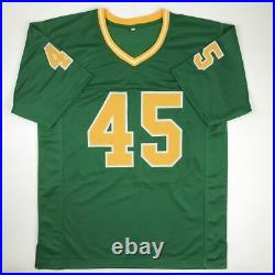 Autographed/Signed RUDY RUETTIGER Notre Dame Green Never Quit Jersey JSA COA