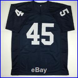Autographed/Signed RUDY RUETTIGER Notre Dame Irish Blue Football Jersey JSA COA