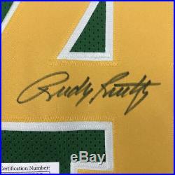 Autographed/Signed RUDY RUETTIGER Notre Dame Irish Green Rudy Jersey JSA COA