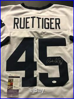 Autographed/Signed RUDY RUETTIGER Notre Dame Irish White Football Jersey JSA COA