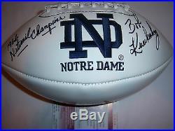 Bob Kuechenberg Notre Dame, Dolphins Jsa/coa Signed Football