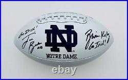 Brian Kelly & Ian Book Signed Go Irish! Notre Dame Football Coa