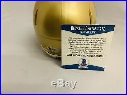 Brian Kelly Signed Notre Dame Fighting Irish Mini Helmet Auto+bas Coa