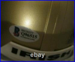 Brian Kelly Signed Notre Dame Fighting Irish Mini Helmet Beckett Bas Coa Q96515