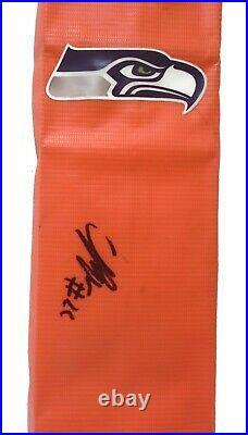 C. J. Prosise Seattle Seahawks Autograph Signed TD Football Pylon Proof Photo COA